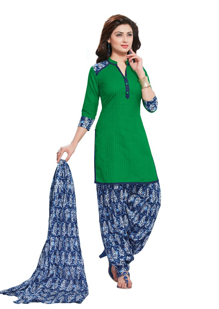 Buy Padmini Unstitched Printed Cotton Dress Material (product Code - Dtafmahi2711) online