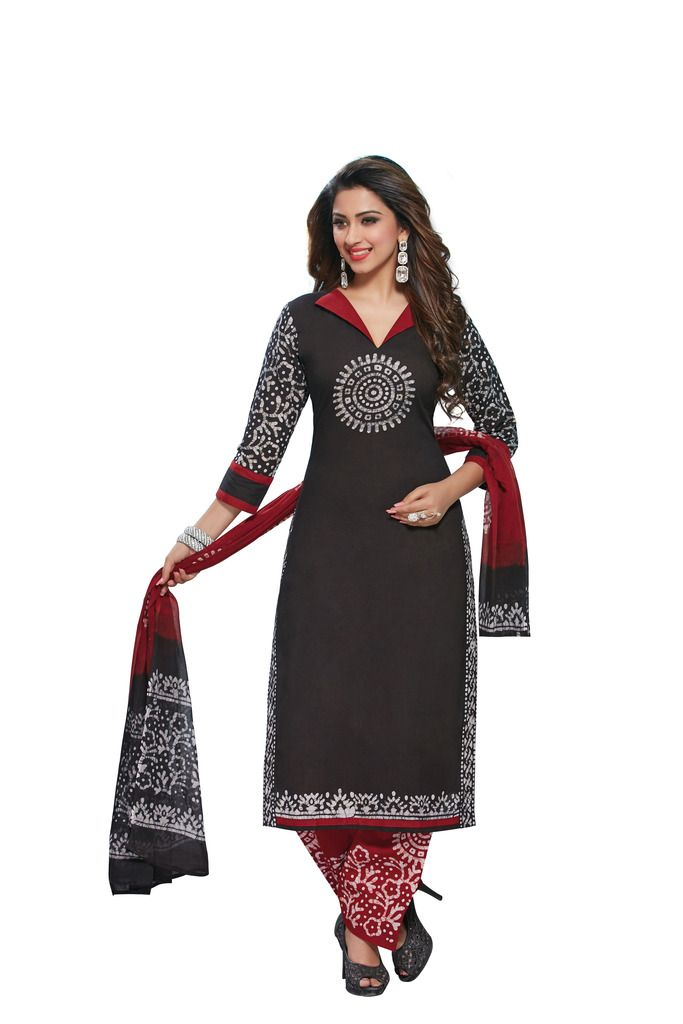 Buy Padmini Unstitched Printed Cotton Dress Material (product Code - Dtafbattik2762) online