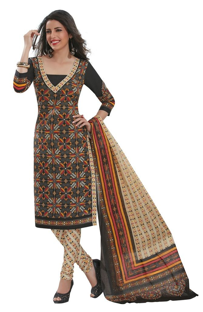 Buy Padmini Unstitched Printed Cotton Dress Materials Fabrics (product Code - Dtafspl2906) online