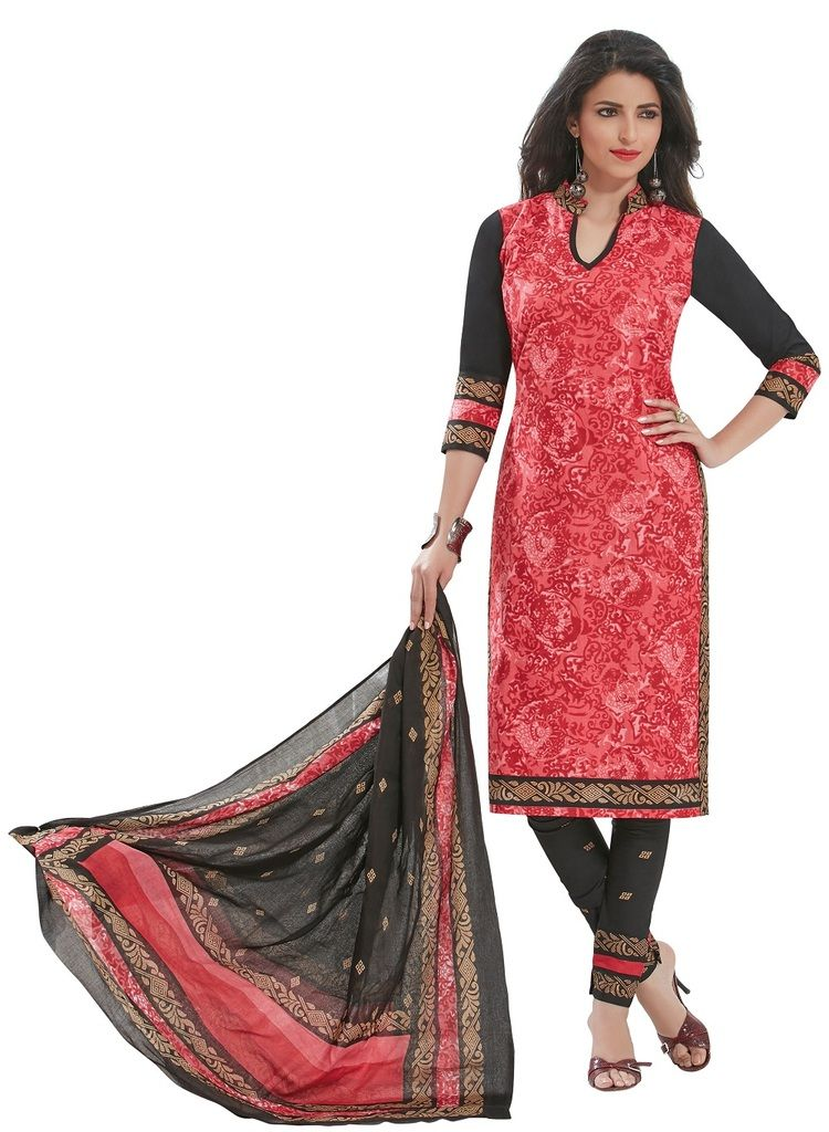 Buy Padmini Unstitched Printed Cotton Dress Materials Fabrics (product Code - Dtafspl2910) online