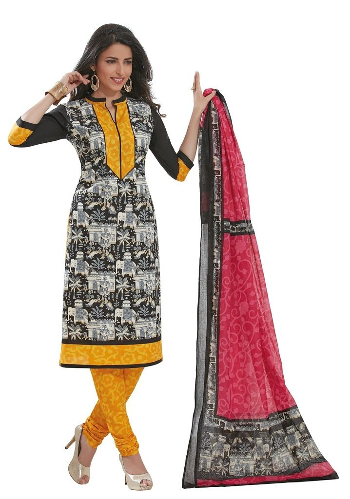 Buy Padmini Unstitched Printed Cotton Dress Materials Fabrics (product Code - Dtafspl2911) online