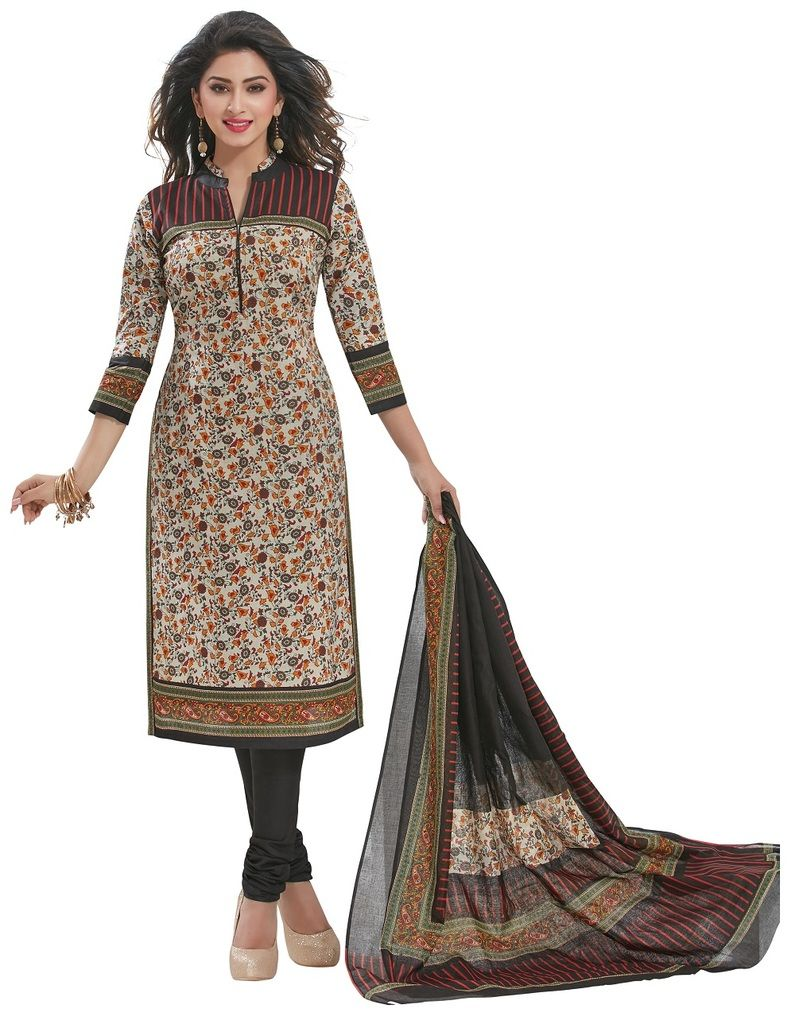 Buy Padmini Unstitched Printed Cotton Dress Materials Fabrics (product Code - Dtafspl2913) online