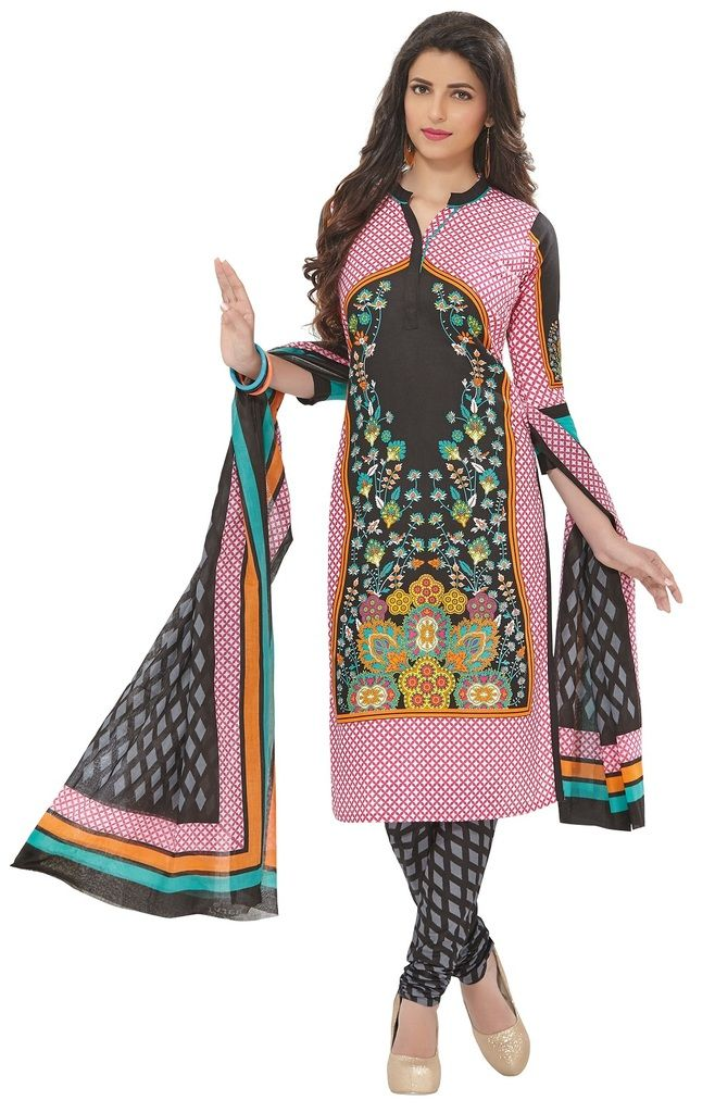 Buy Padmini Unstitched Printed Cotton Dress Materials Fabrics (product Code - Dtafspl2917) online