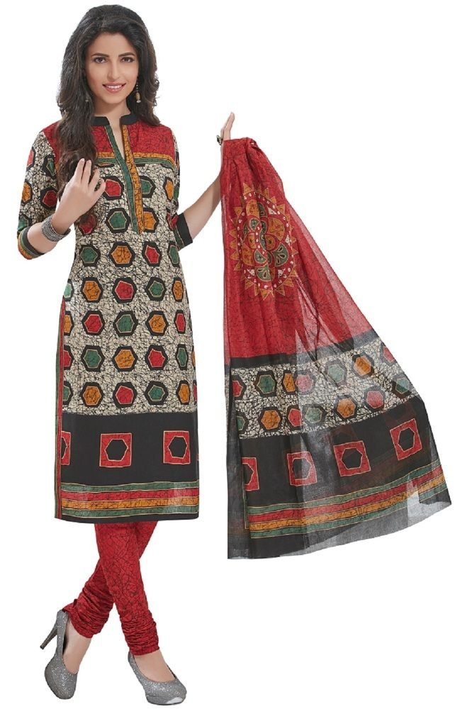 Buy Padmini Unstitched Printed Cotton Dress Materials Fabrics (product Code - Dtafspl2919) online