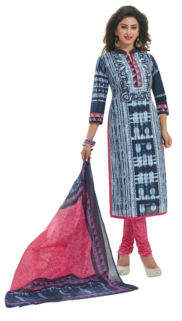 Buy Padmini Unstitched Printed Cotton Dress Materials Fabrics (product Code - Dtafspl2922) online