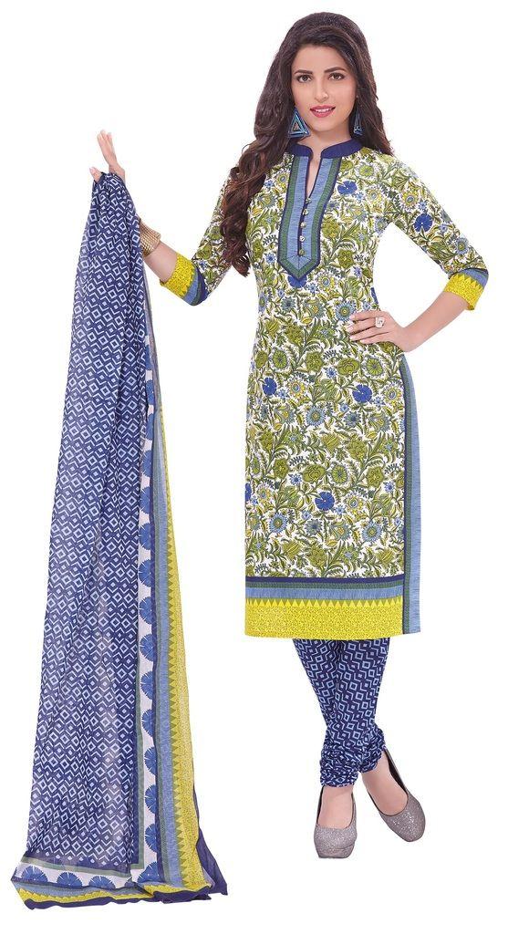 Buy Padmini Unstitched Printed Cotton Dress Materials Fabrics (product Code - Dtafspl2924) online