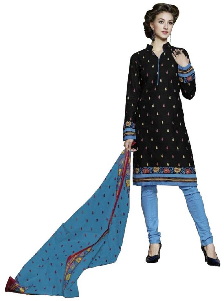 Buy Padmini Unstitched Printed Cotton Dress Material (product Code - Dtpcragini3014) online