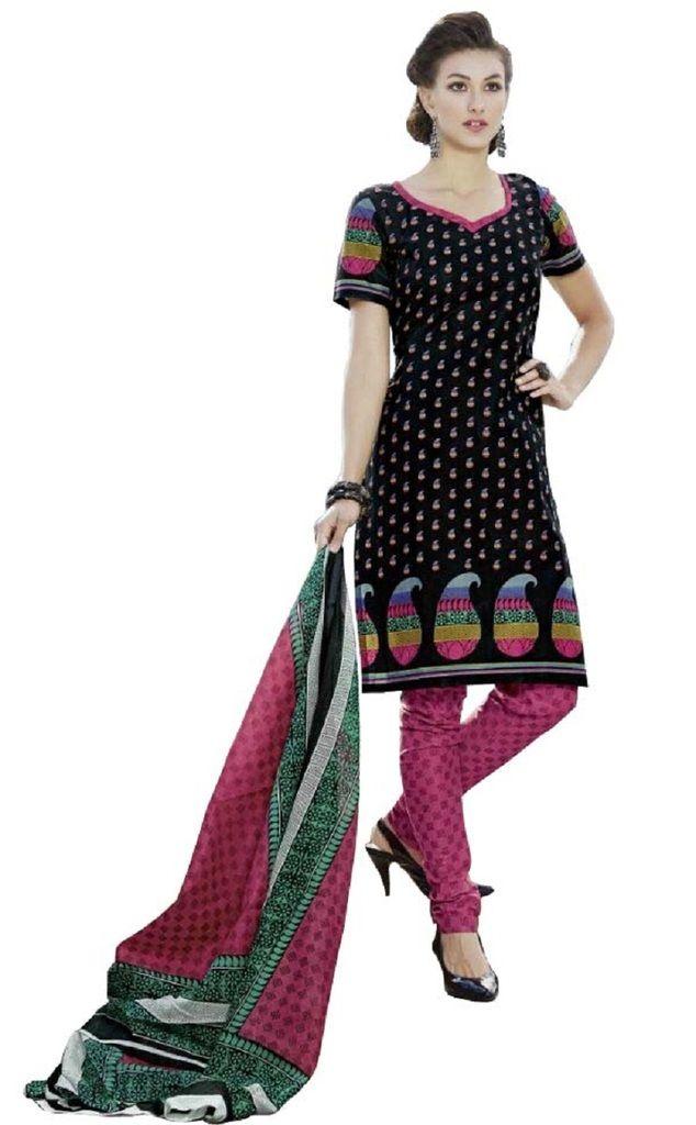 Buy Padmini Unstitched Printed Cotton Dress Material (product Code - Dtpcragini3015) online