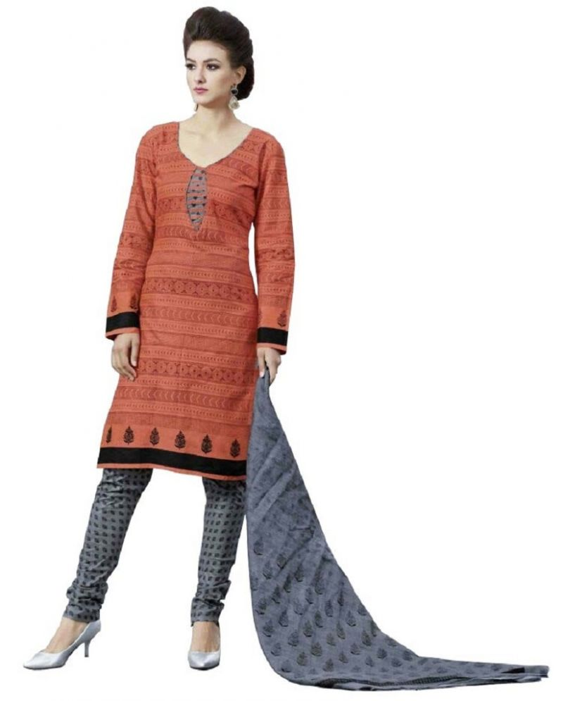 Buy Padmini Unstitched Printed Cotton Dress Material (product Code - Dtpcragini3018) online