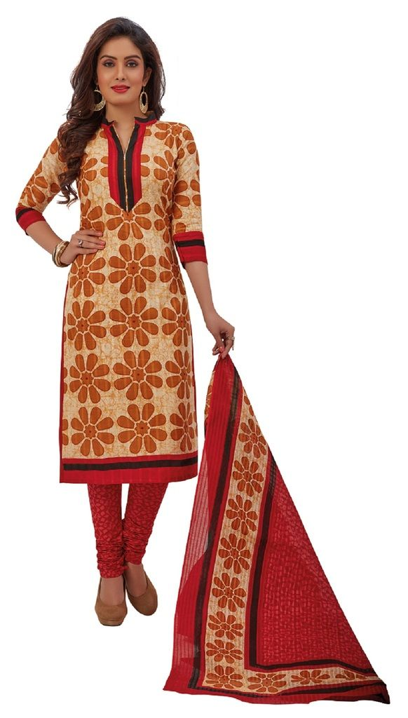 Buy Padmini Unstitched Printed Cotton Dress Materials Fabrics (product Code - Dtafrangresham3056) online