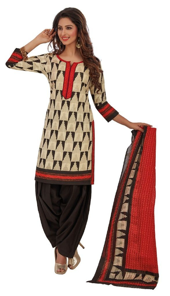 Buy Padmini Unstitched Printed Cotton Dress Materials Fabrics (product Code - Dtafrangresham3058) online