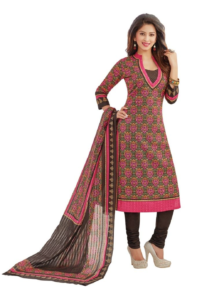 Buy Padmini Unstitched Printed Cotton Dress Materials Fabrics (product Code - Dtafrangresham3059) online