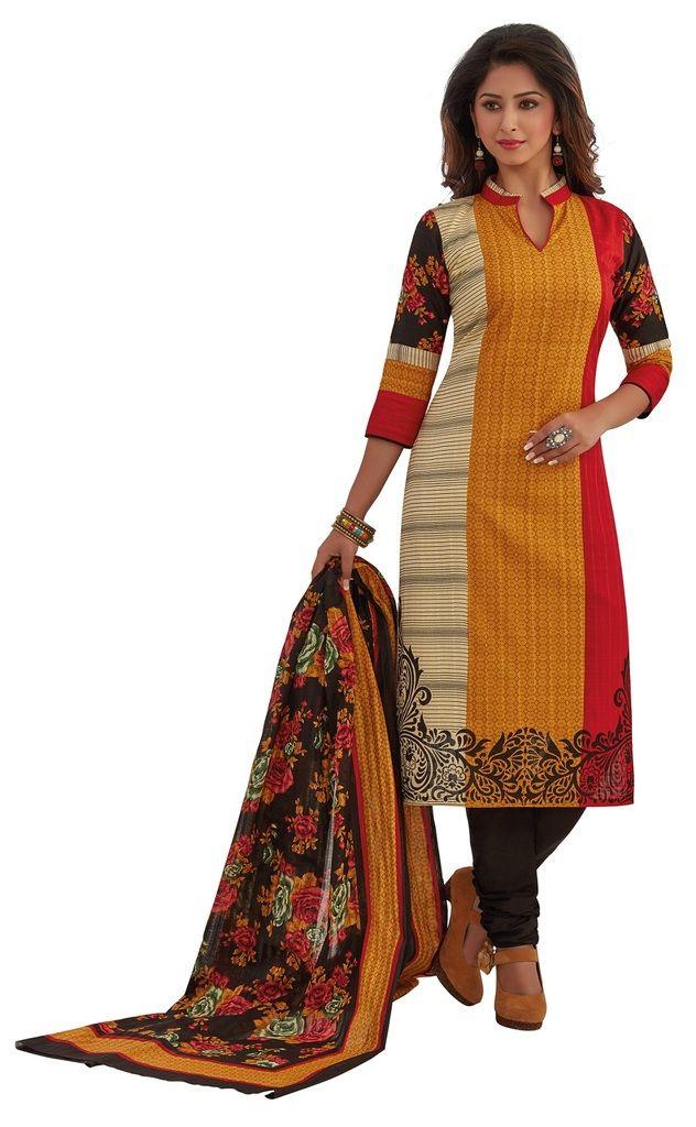 Buy Padmini Unstitched Printed Cotton Dress Materials Fabrics (product Code - Dtafrangresham3063) online