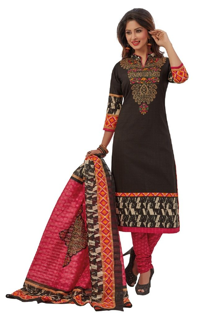 Buy Padmini Unstitched Printed Cotton Dress Materials Fabrics (product Code - Dtafrangresham3073) online