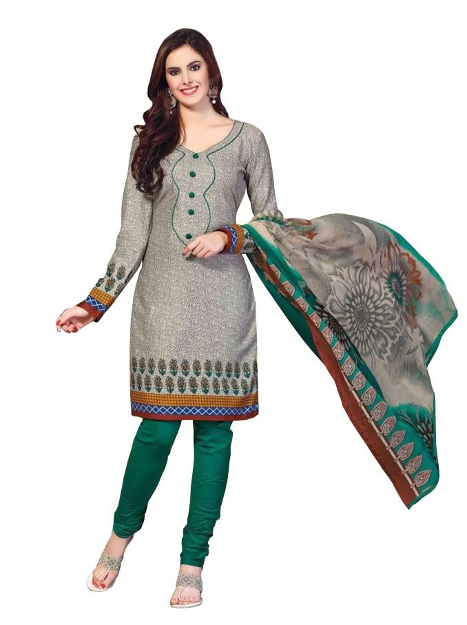 Buy Padmini Unstitched Printed Cotton Dress Materials Fabrics (product Code - Dtbjaroma3133) online
