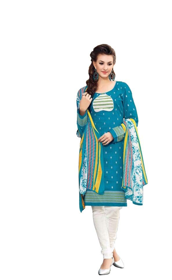 Buy Padmini Unstitched Printed Cotton Dress Materials Fabrics (product Code - Dtbjaroma3134) online