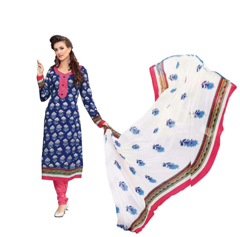 Buy Padmini Unstitched Printed Cotton Dress Materials Fabrics (product Code - Dtbjaroma3138) online