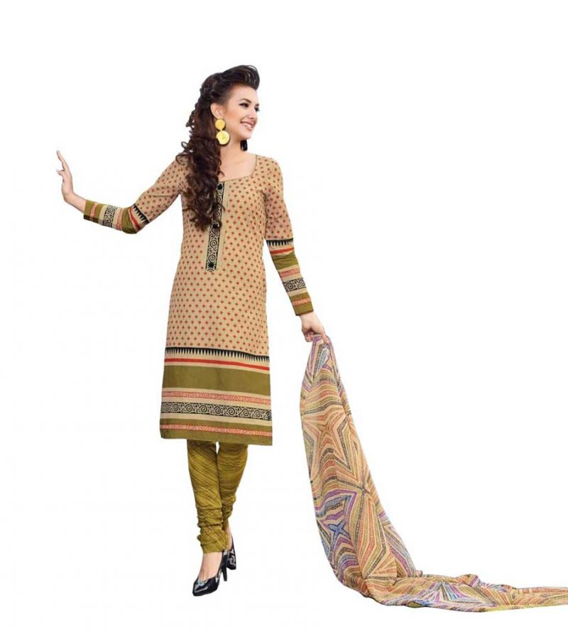 Buy Padmini Unstitched Printed Cotton Dress Materials Fabrics (product Code - Dtbjaroma3142) online