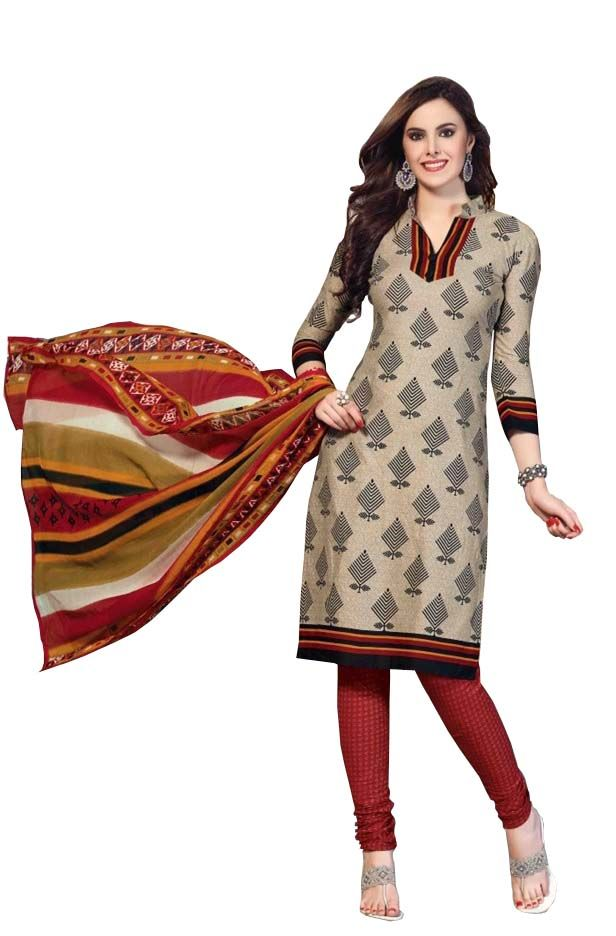 Buy Padmini Unstitched Printed Cotton Dress Materials Fabrics (product Code - Dtbjaroma3143) online