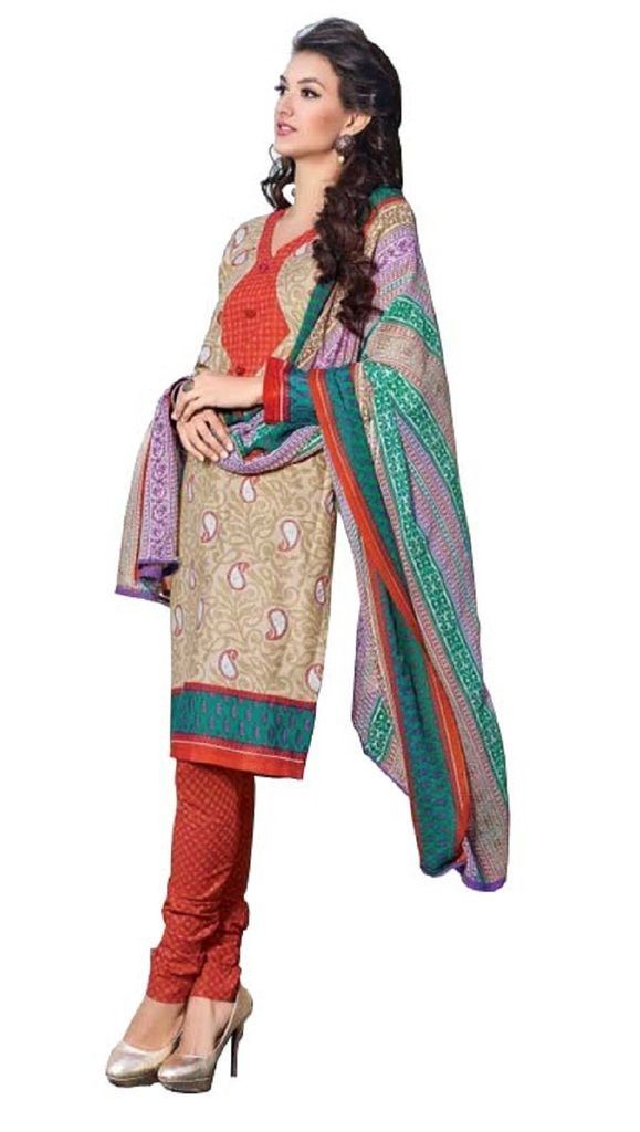 Buy Padmini Unstitched Printed Cotton Dress Materials Fabrics (product Code - Dtbjaroma3147) online