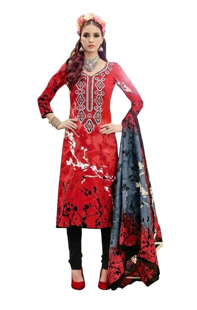 Buy Padmini Unstitched Printed Cotton Dress Material (product Code - Dtsjtrendy3404) online