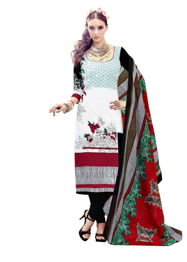 Buy Padmini Unstitched Printed Cotton Dress Material (product Code - Dtsjtrendy3408) online