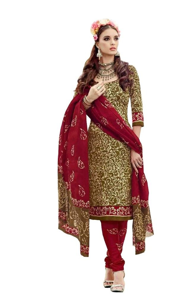 Buy Padmini Unstitched Printed Cotton Dress Material (product Code - Dtsjtrendy3409) online