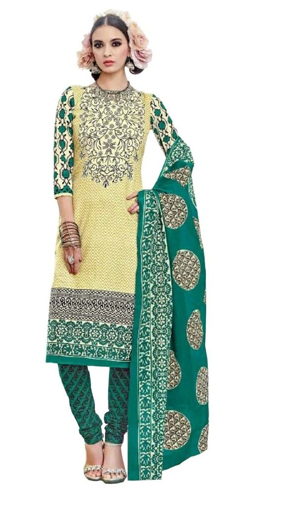 Buy Padmini Unstitched Printed Cotton Dress Material (product Code - Dtsjtrendy3412) online