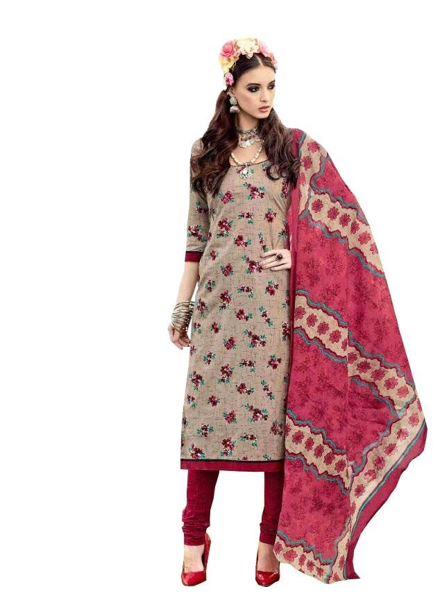Buy Padmini Unstitched Printed Cotton Dress Material (product Code - Dtsjtrendy3413) online