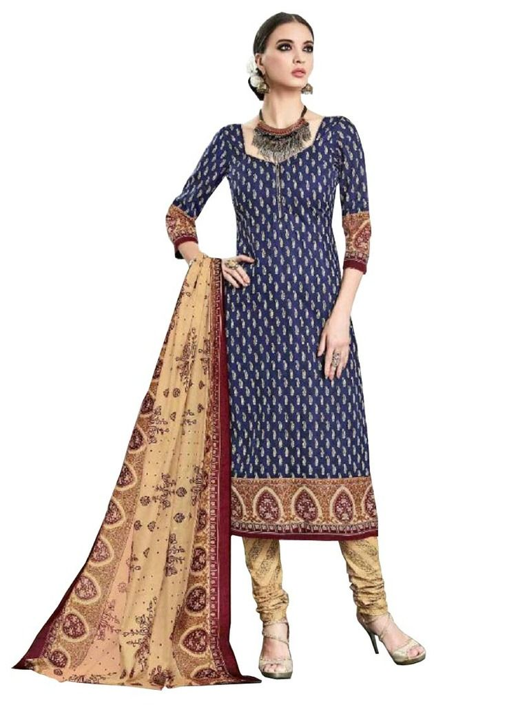 Buy Padmini Unstitched Printed Cotton Dress Material (product Code - Dtsjtrendy3420) online