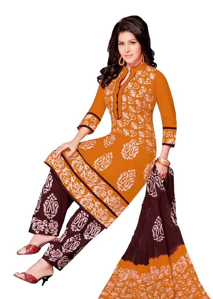 Buy Padmini Unstitched Printed Cotton Dress Material (product Code - Dtafbattik2404) online