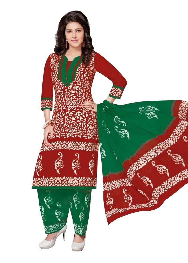 Buy Padmini Unstitched Printed Cotton Dress Material (product Code - Dtafbattik2411) online