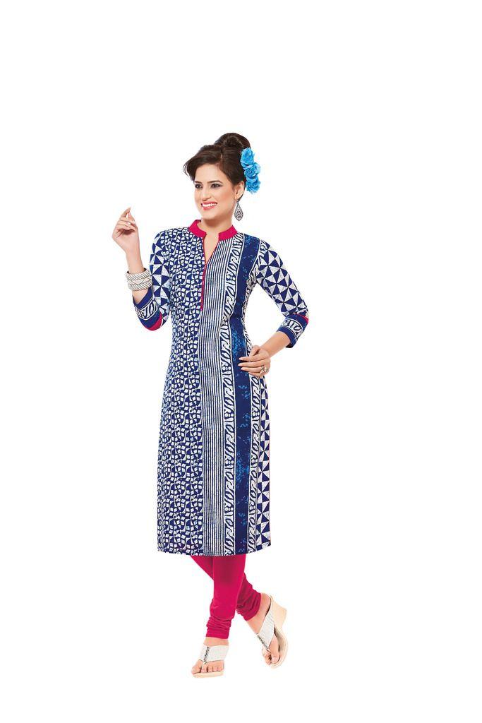 Buy Padmini Unstitched Printed Cotton Kurti Fabrics (product Code - Dtafsaheli1420) online