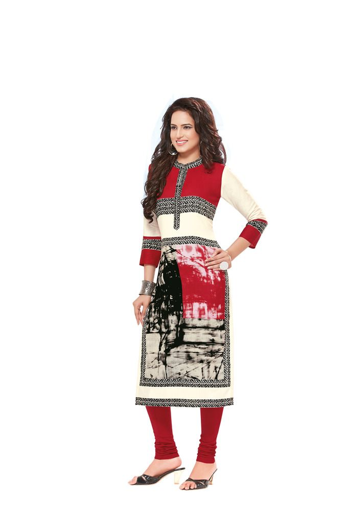Buy Padmini Unstitched Printed Cotton Kurti Fabrics (product Code - Dtafsaheli1422) online