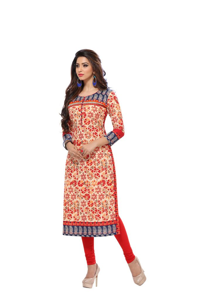 Buy Padmini Unstitched Printed Cotton Kurti Fabrics (product Code - Dtafsaheli1424) online