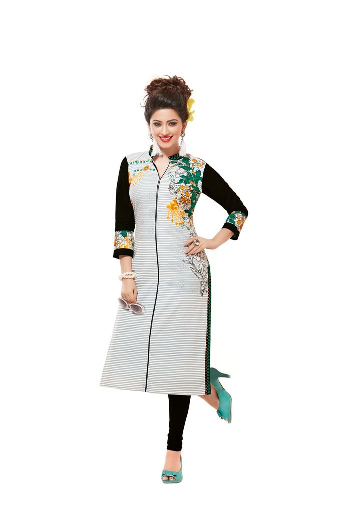 Buy Padmini Unstitched Printed Cotton Kurti Fabrics (product Code - Dtafsaheli1426) online