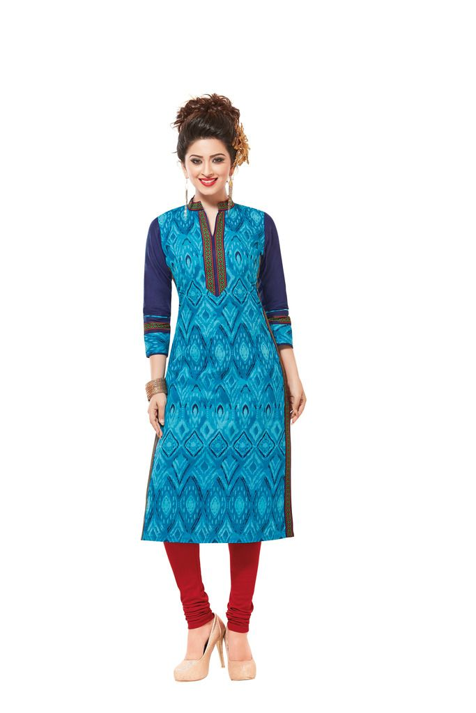 Buy Padmini Unstitched Printed Cotton Kurti Fabrics (product Code - Dtafsaheli1427) online