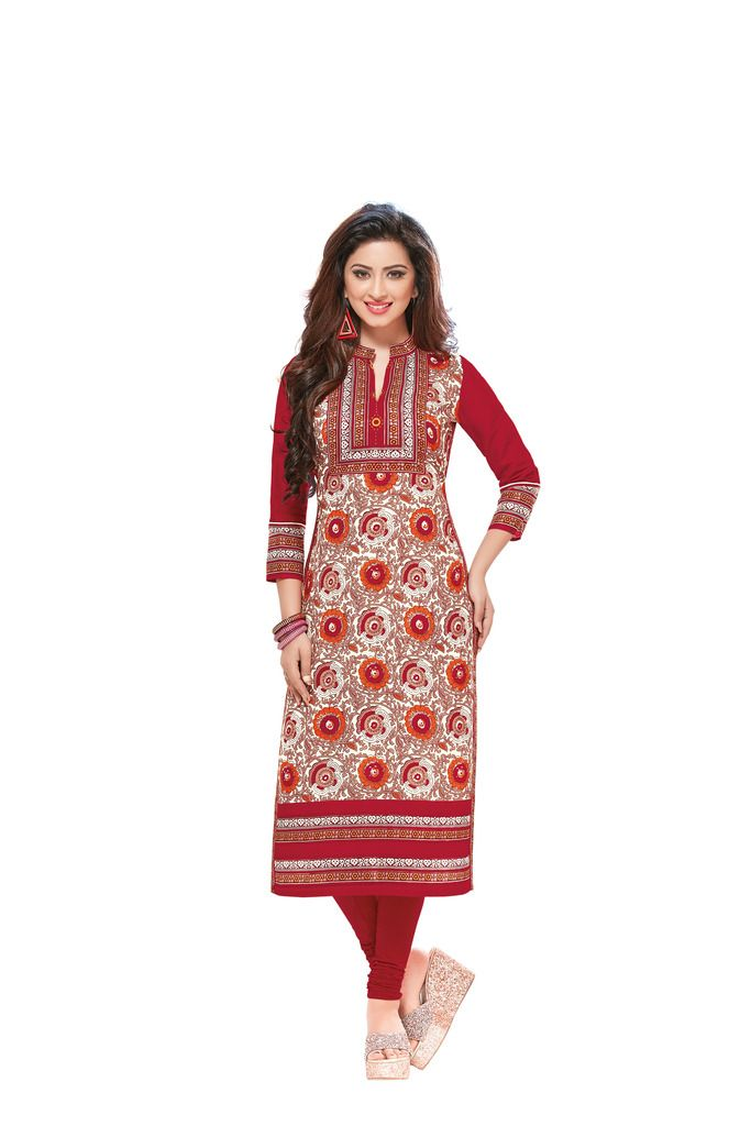 Buy Padmini Unstitched Printed Cotton Kurti Fabrics (product Code - Dtafsaheli1430) online
