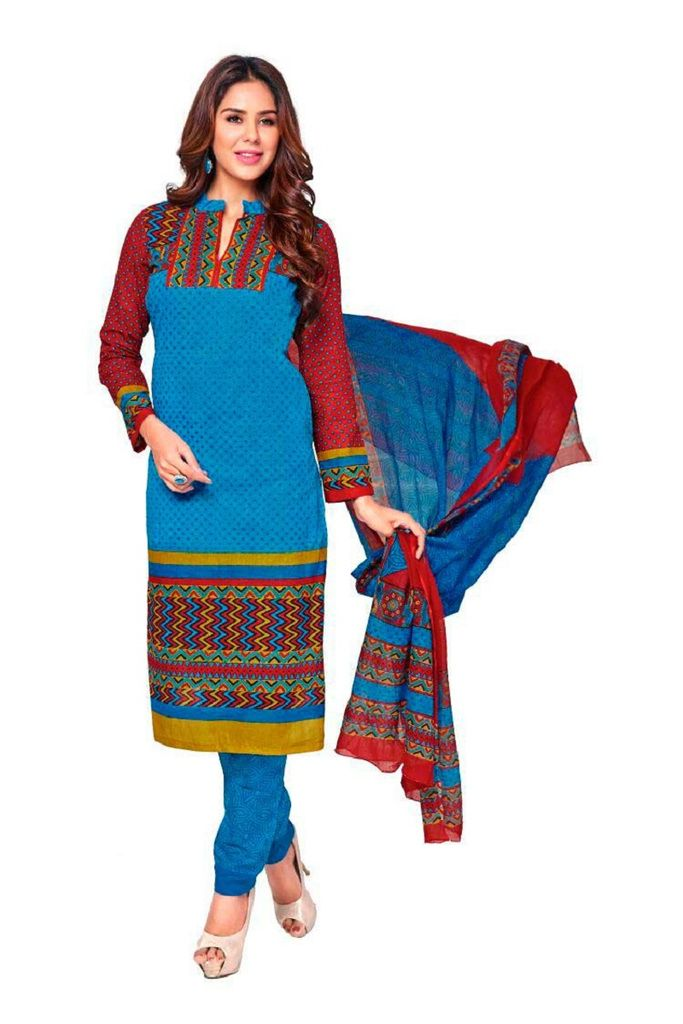 Buy Padmini Unstitched Printed Cotton Dress Material (product Code - Dtkashree4702) online