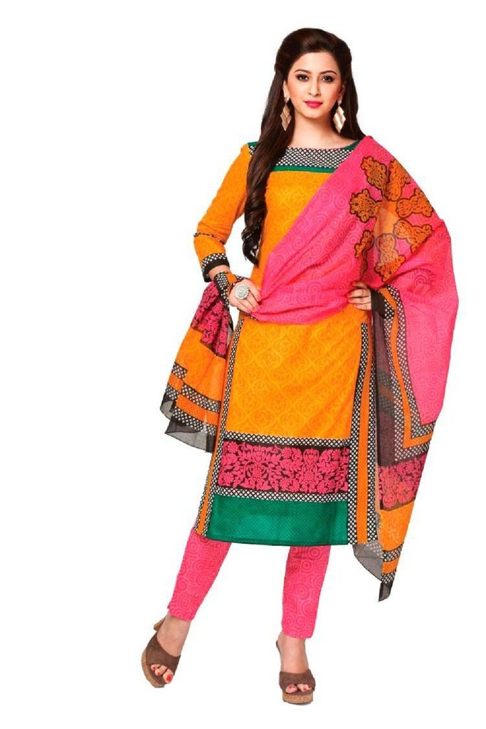 Buy Padmini Unstitched Printed Cotton Dress Material (product Code - Dtkashree4706) online