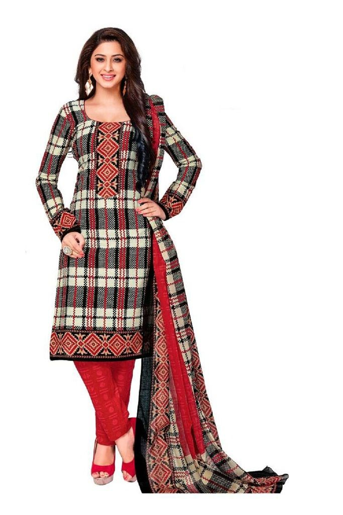 Buy Padmini Unstitched Printed Cotton Dress Material (product Code - Dtkashree4707) online