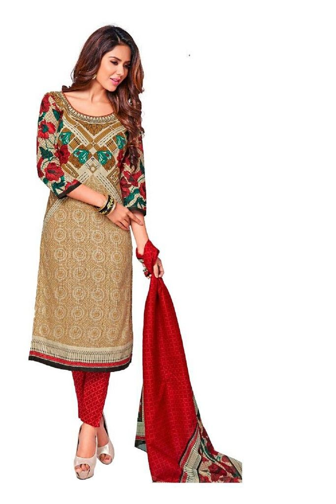 Buy Padmini Unstitched Printed Cotton Dress Material (product Code - Dtkashree4708) online