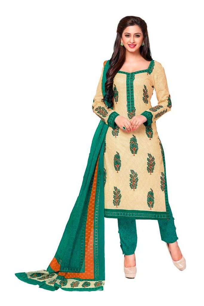 Buy Padmini Unstitched Printed Cotton Dress Material (product Code - Dtkashree4712) online
