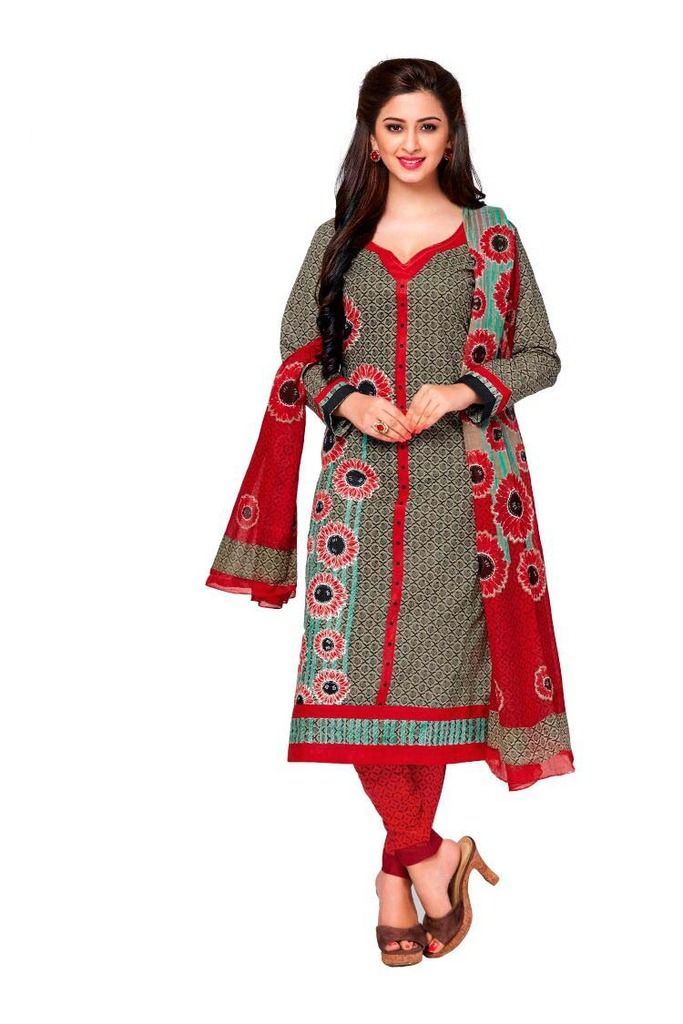 Buy Padmini Unstitched Printed Cotton Dress Material (product Code - Dtkashree4713) online