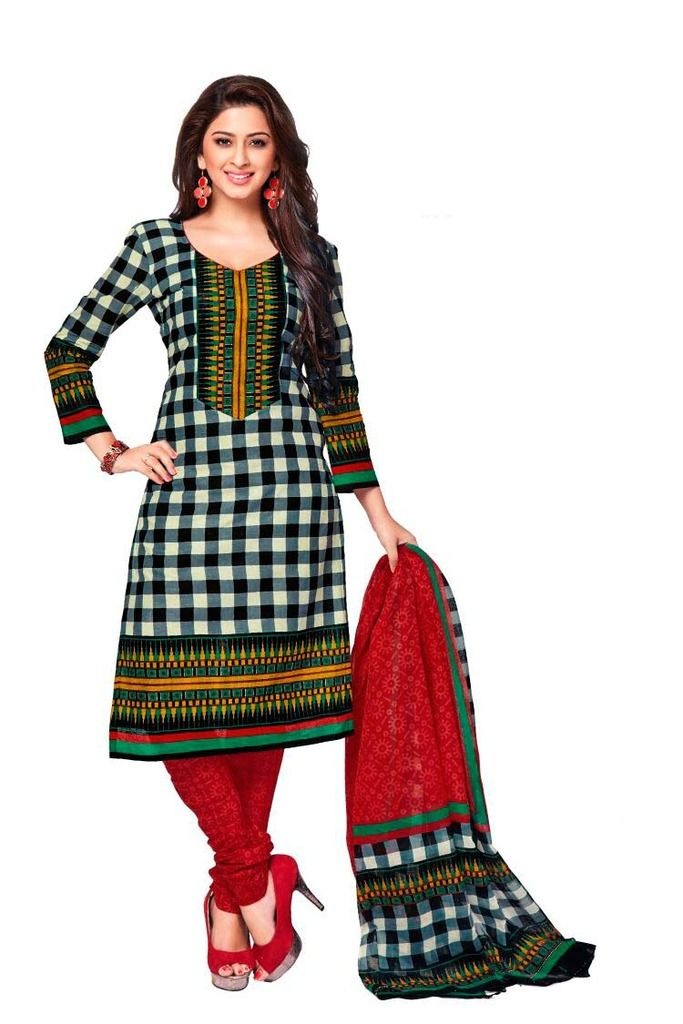 Buy Padmini Unstitched Printed Cotton Dress Material (product Code - Dtkashree4715) online