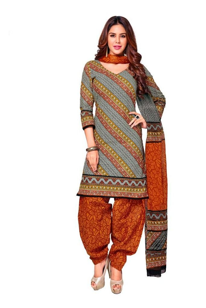 Buy Padmini Unstitched Printed Cotton Dress Material (product Code - Dtkashree4717) online