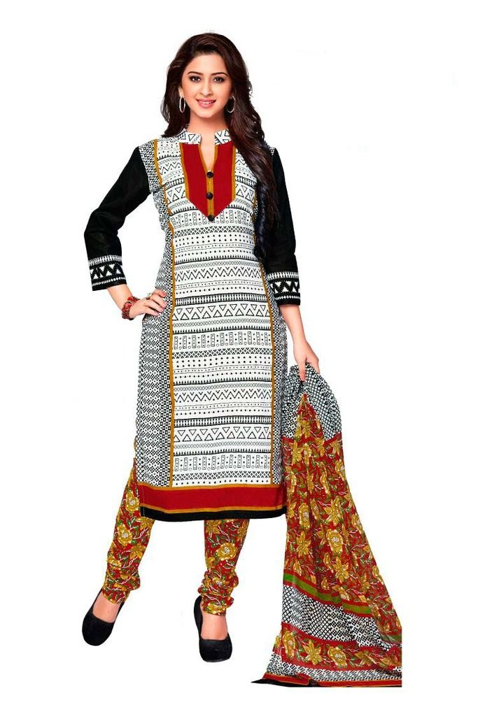 Buy Padmini Unstitched Printed Cotton Dress Material (product Code - Dtkashree4720) online