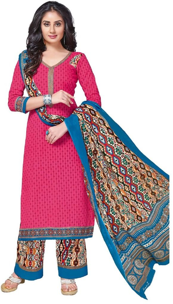 Buy Padmini Unstitched Printed Cotton Dress Material (product Code - Dtkashree4755) online