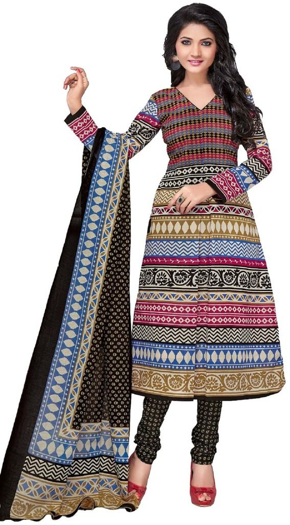 Buy Padmini Unstitched Printed Cotton Dress Material (product Code - Dtkashree4756) online