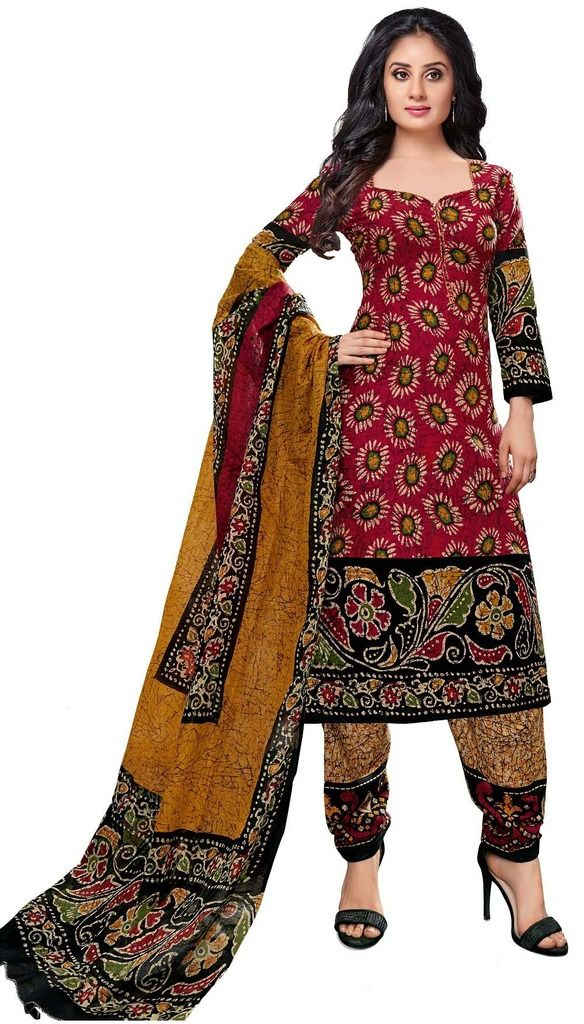 Buy Padmini Unstitched Printed Cotton Dress Material (product Code - Dtkashree4757) online